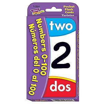 Numéros/Nmeros Del 0 Al 100 (En/Sp) Pocket Flash Cards