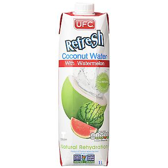 Kokoswater met watermeloen (6x1l) ufc verfris kokos met watermeloen
