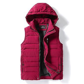 Nové silné s kapucí bez rukávů zimní teplé bavlněné polstrované vesty vesty vesta