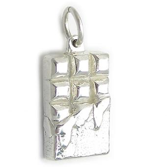 Chocolade reep Sterling Silver Charm .925 X 1 Candy Bars Chars - 4965