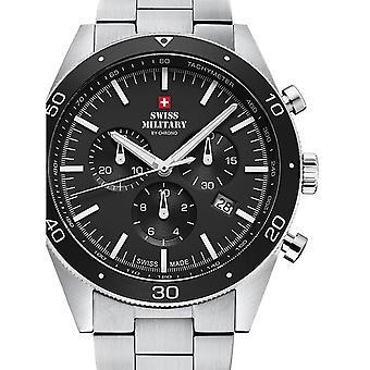 Reloj masculino militar suizo por Chrono SM34079.01, cuarzo, 43 mm, 10ATM