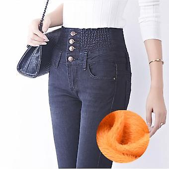 Denim Pants Fashion Women Elastic High Waist Skinny Stretch Jean Printemps féminin