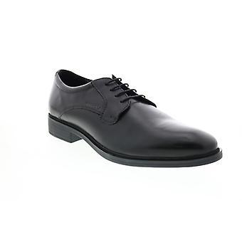 Geox U Gladwin Herren schwarz Leder Oxfords & Schnürsenkel einfache Zehenschuhe