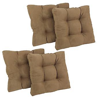 Coussin de chaise à manger tufted microsuede carré de 19 pouces (ensemble de quatre) - Java