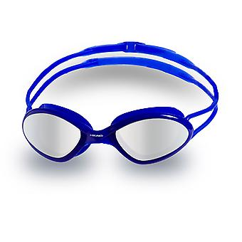 HEAD Tiger Race Mid Mirrored Swim Goggles -Blue/Clear