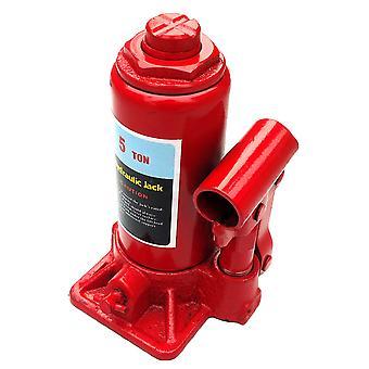 5t Heavy Duty Floor Hydraulic Bottle Jack Car Caravan Reparation Munual Lyftverktyg