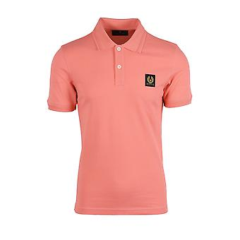 Belstaff Short Sleeve Polo Shirt Shell Pink