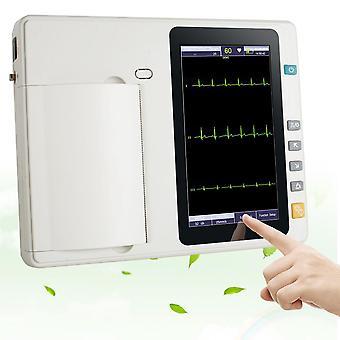 7'' Lcd touch screen digital 3 channel electrocardiograph ecg/ekg machine