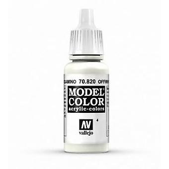 Vallejo Model Color 17ml Acrylic Paint - 820 Offwhite