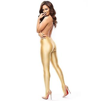 Miss O Coloured Opaque Gloss Crotchless Tights