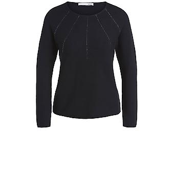 Oui Black Knit Jumper