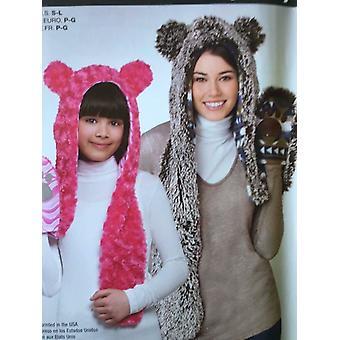 بساطة الخياطة نمط 1312 الكبار الطفلات الحيوان قبعة ثلاثة أحجام حرفة غير المصقول