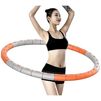 Weight Loss Exercise Hoop With Stainless Steel Core, Removable 6 Segments Hula Hoop