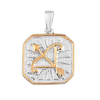 TJC Tanzanite Zodiac Pendant for Women Sterling Silver 0.03ct