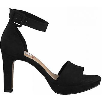 Zwarte elegante hoge hakken sandalen