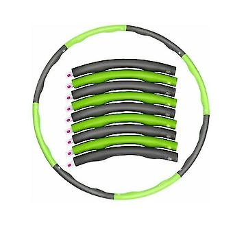 Green /grey  Weighted Collapsible Hula Hoop Padded Abs Exercise Gym Workout