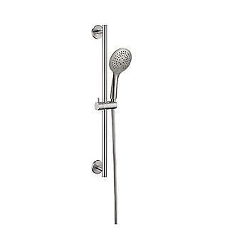 Rail de douche de pluie avec douche à bouton-poussoir