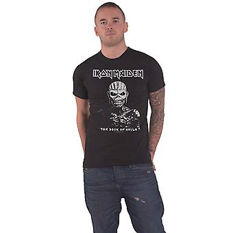 Iron Maiden T Shirt The Book of Souls White Contrast Official Mens Black