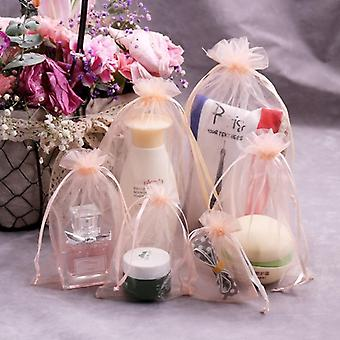 Drawstring Organza Bag, Small Pouches Jewelry Package Bag