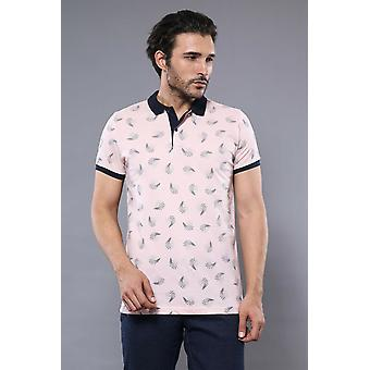 Pink printed polo t-shirt | wessi