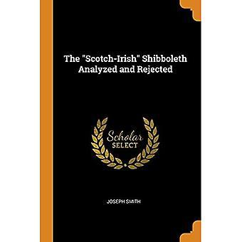 O Shibboleth escocês-irlandês analisado e rejeitado