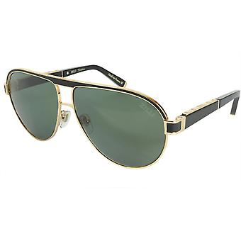 ZILLI Solglasögon Titanacetat Läder Polariserat Frankrike Handgjord ZI 65031 C01