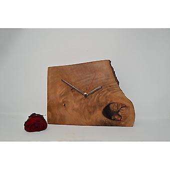 Trävägg klocka trä klocka träd skiva 27 x 24 cm Tillverkad i Österrike Titta på bokklockan klocka Presentidé Trädekoration Trädekoration Trädekoration
