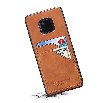 Portefeuille étui en cuir fente pour carte pour samsung note9 rétro brun pc3165