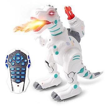 Simulated Flame Spray Tyrannosaurus T Rex Dinosaur Toy Dinosaur Water Spray Red Light|RC  Animals
