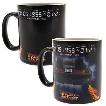 Back To The Future Delorean Heat Changing Mug