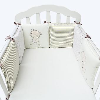 Vauvansänky paksuntaa puskurit Yksiosainen pinnasänky tyynysängyn suojatyynyjen ympärillä