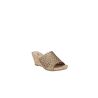 White Mountain   Atlie Embellished Wedge Sandals