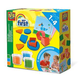 SES Creative - Lasten ensimmäinen mallinnustaikina leikatuilla leikkaajilla (monivärinen)