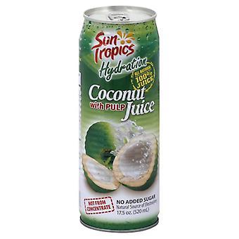 Sun Tropics Juice Coconut 100% Pulp, Case of 12 X 17.5 Oz