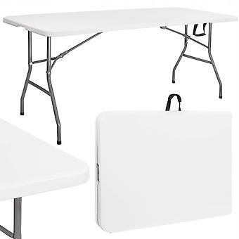 Fällbart trädgårdsbord - 180 x 75 cm - vitt - Cateringbord