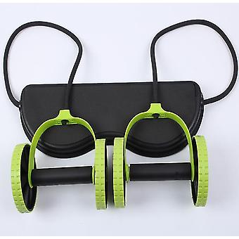 Multifunctional household Muscle Exercise Double Wheel Ab Roller Trainer