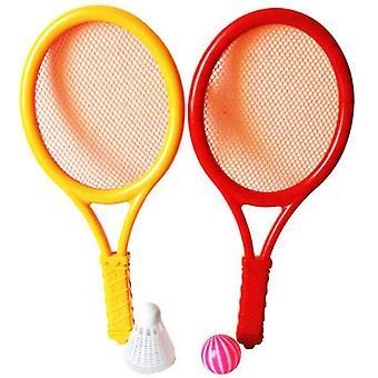 Sulkapallosetti lapsille, pallo ja birdie junior tennis maila pelata peli (keltainen)