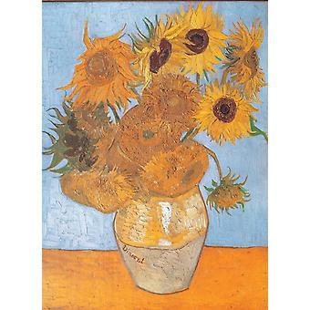Clementoni Van Gogh Zonnebloemen Legpuzzel van hoge kwaliteit (1000 stukjes)