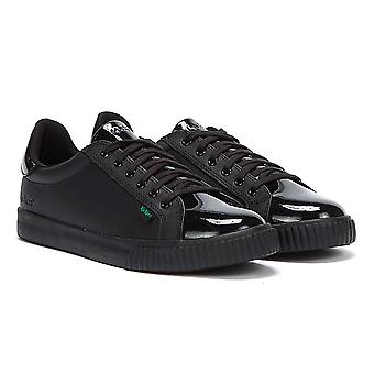 Kickers Tovni Track Leather Womens Black Shoes