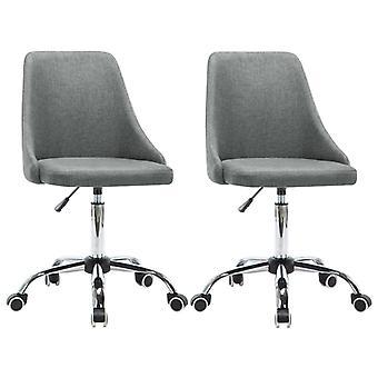 vidaXL chaises de bureau 2 pcs. tissu gris clair