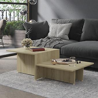 """שולחן קפה vidaXL אלון סונומה 111,5x50x33 ס""""מ שבב"""