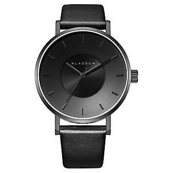 Klasse14 Volare Dark 42mm Black Leather Strap VO14BK002M Watch