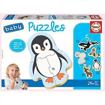Educa - Puzzle - 24 Meses Animales De La Banquise