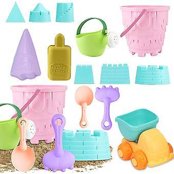 13PCS Sandspielzeug Set,Sandkasten-Eimer,Strand Spielzeug Sand Set,Strandspielzeug für