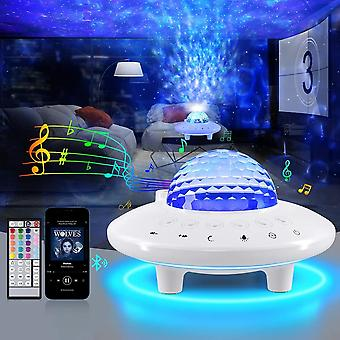 Galaxy Star Projector Night Sky Light With Music Speaker & Remote Control