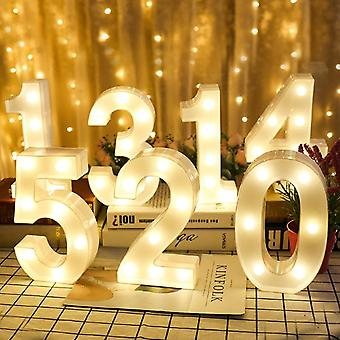 Creative luminous number letter light aa battery powered night light for christmas wedding birthday party decor