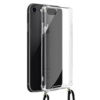 Cover Lanyard for iPhone 7, 8 and SE 2020 Flexible Neck Strap Clear