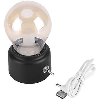 الرجعية LED ليلة ضوء USB القابلة لإعادة الشحن مصباح السرير مصباح غرفة النوم، الرواق، مطبخ،(أسود)