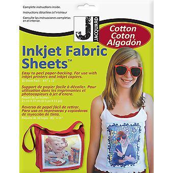 """Jacquard Inkjet Fabric Sheets 8.5""""X11"""" 10/Pkg - 100% Cotton Percale"""