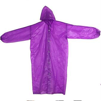 22    5 Colors hooded ponchos transparent raincoat eva elastic cuffs women men outdoor travel rain cover waterproof camping